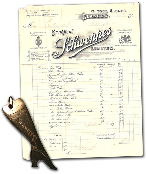 31 Sortiment Schweppes 1906