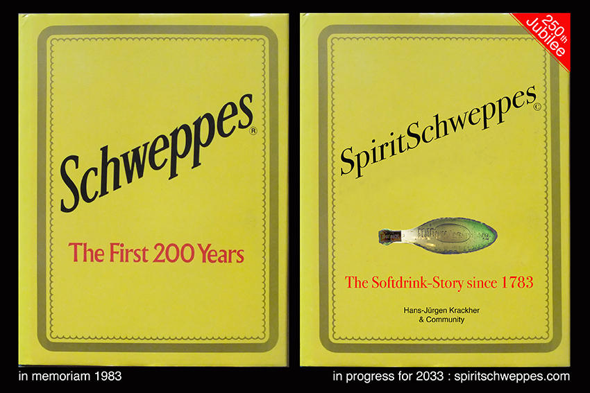 250th ANNIVERSARY SCHWEPPES 1783-2033